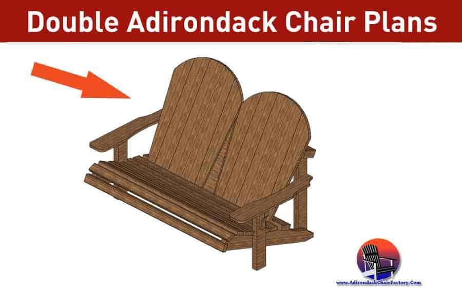 Double Adirondack Chair Plans