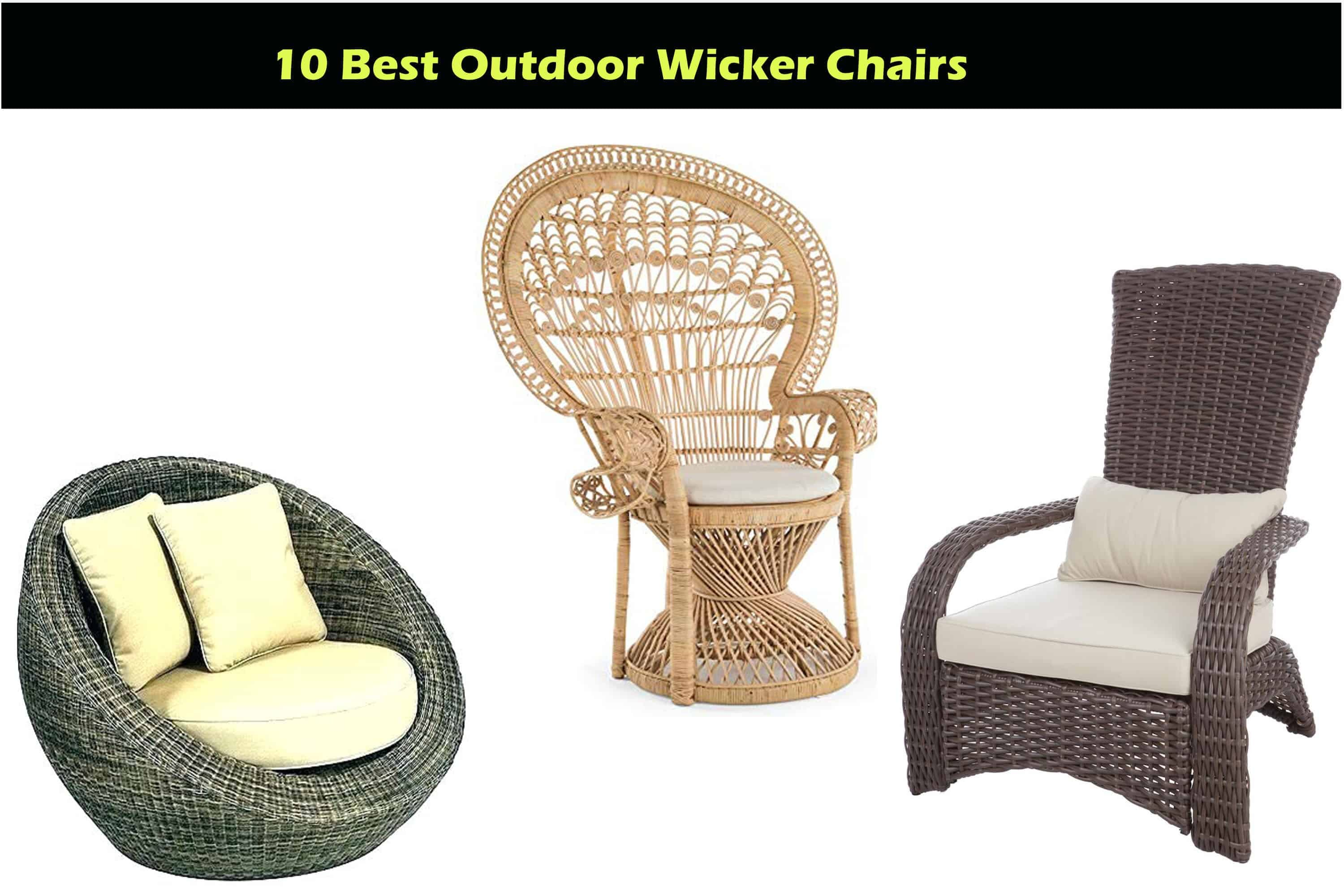 outdoor wicker chair