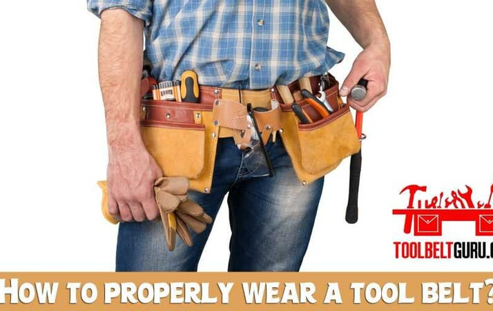 How to properly wear a tool belt