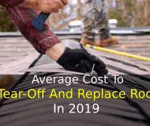 Average Cost to Tear-off and Replace Roof